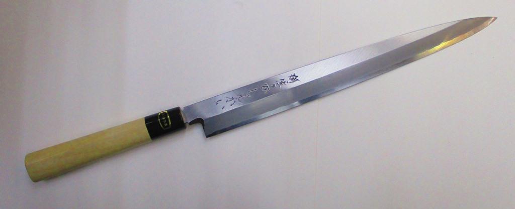 あさがや しんかい 柳刃包丁 刺身包丁 30センチ 銀紙3号ステンレス鋼 Asagaya Shinkai Yanagiba Sashimi Kitchen Knife 30cm Gingami #3 Stainless Steel