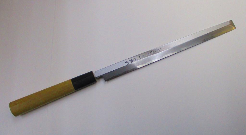あさがや しんかい 蛸引包丁 刺身包丁 27センチ 白紙2号鋼(日立金属安来工場製) Shinkai Takohiki Sashimi Kitchen Knife 270mm