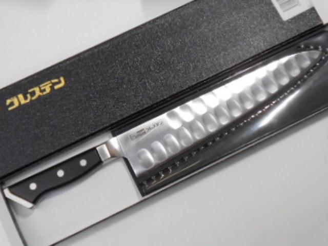 グレステン 牛刀(洋包丁) 24センチ 窪みあり ステンレス鋼 Glestain Kitchen knife 24cm (Dimples) Stainless Steel