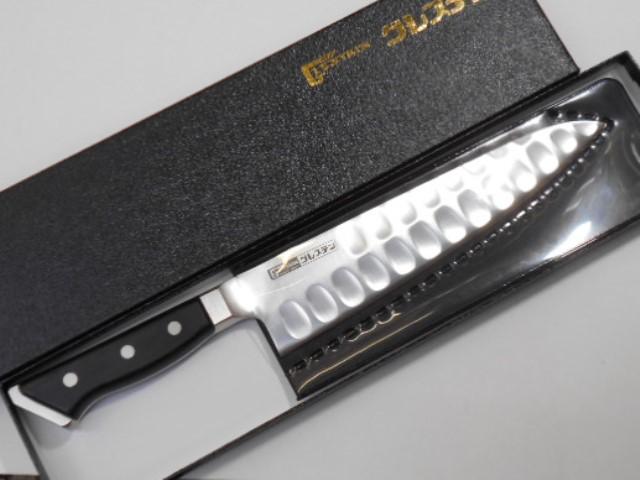 グレステン 牛刀(洋包丁) 21センチ 窪みあり ステンレス鋼 Glestain Kitchen knife 24cm (Dimples) Stainless Steel