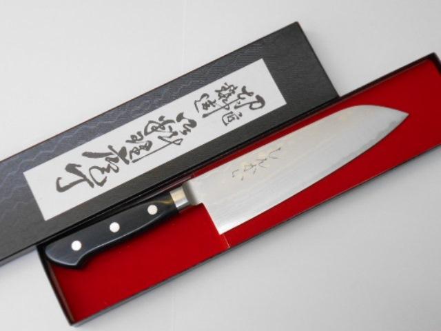 しんかい 三徳包丁 (文化包丁) ダマスカスステンレス鋼 Shinkai Santoku Kitchen Knife Damascus Stainless Steel