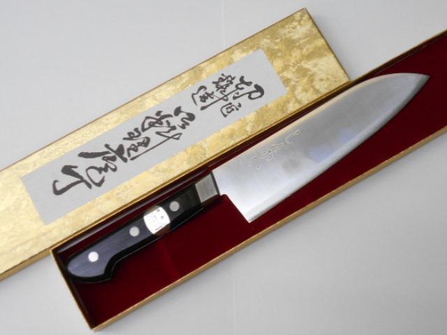 しんかい 三徳包丁 (文化包丁) 鋼 (はがね) 割り込み Shinkai Santoku Kitchen Knife