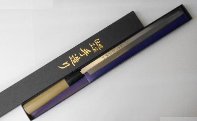 あさがや しんかい 蛸引包丁 刺身包丁 24センチ 鋼製(はがね) Shinkai Takohiki Sashimi Kitchen Knife 240mm