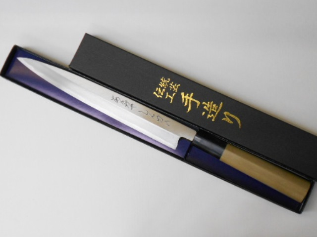 あさがや しんかい 柳刃包丁 刺身包丁 左手用 21センチ 白紙2号鋼 左用 Asagaya Shinkai Yanagiba Sashimi Kitchen Knife 21cm for Left Hand