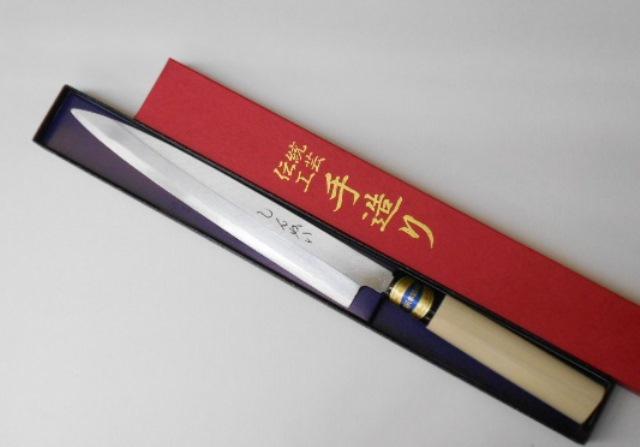しんかい 柳刃包丁 刺身包丁 21センチ 左手用 鋼製(はがね) 左用 Shinkai Yanagiba Sashimi Kitchen Knife 21cm for Left Hand