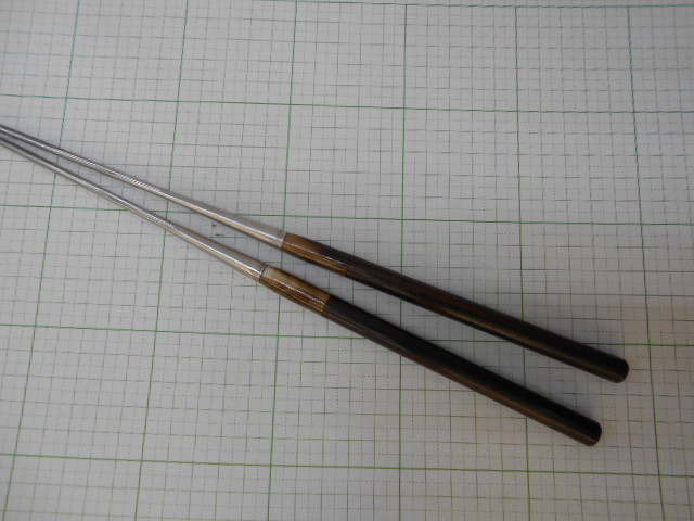 Assorted chopsticks ebony handle Buffalo Horn wheel 180 mm weld chopsticks cooking chopsticks moribashi stainless steel chopsticks