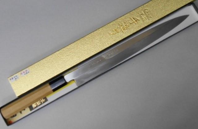 あさがや しんかい 柳刃包丁 本焼き(全鋼) 30センチ 白紙2号鋼(日立金属安来工場製) Asagaya Shinkai Honyaki Yanagiba Sashimi Kitchen Knife 300mm