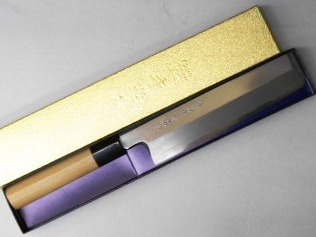 あさがや しんかい 薄刃包丁 18センチ 白紙2号鋼(日立金属安来工場製) Asagaya Shinkai Usuba Knife 18cm Shirogami #2