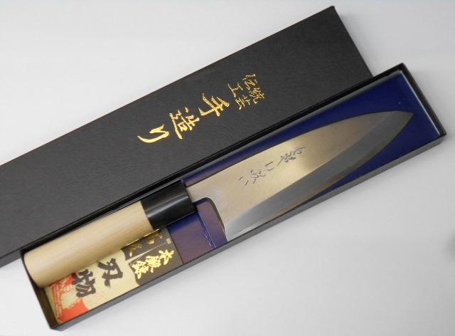 あさがや しんかい 出刃包丁 16.5センチ 白紙2号鋼(日立金属安来工場製) Asagaya Shinkai Deba Knife 16.5cm Shirogami #2