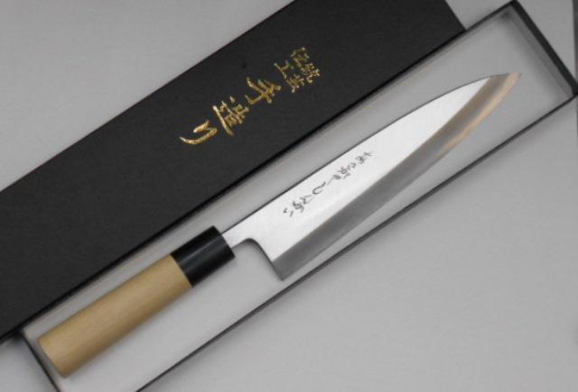 あさがや しんかい 身卸出刃包丁 21センチ 白紙2号鋼(日立金属安来工場製) Asagaya Shinkai Mioroshi Knife 21cm Shirogami #2