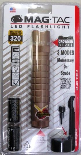 MAGLITE マグ・タック LED ブロンズ CR123リチウム乾電池2個