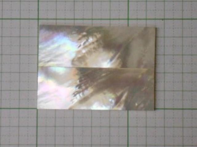 白蝶貝 マザーオブパール 2.5x23x64mm(2枚組) (白蝶貝-16)