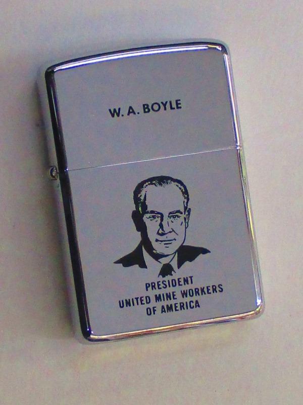 ビンテージZippo ボイル議長 全米鉱山労組連合 大会記念 ポリッシュ仕上げ 1968年製 未使用 (M0241) UMWA President W.A.Boyle