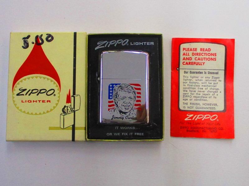 ビンテージZippo ジミー・カーター 大統領選挙グッズ ポリッシュ仕上げ 1976年製 未使用 箱付 (M-764) Jimmy Carter