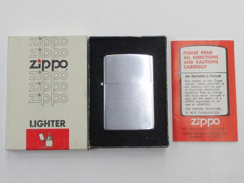 ビンテージZippo 無地 (M-801) ブラッシュ仕上げ 未使用 箱付き 1980年製 未使用 箱付き (M-801), SHIFT:64885997 --- officewill.xsrv.jp