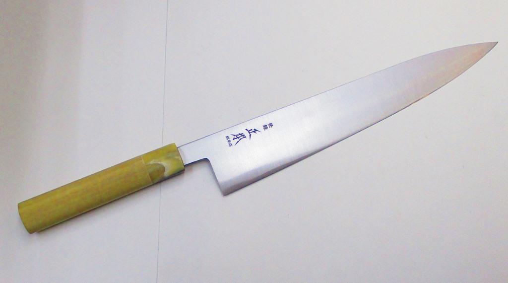 正本総本店 和牛刀 玉白鋼 27センチ 正本 KS3127 木鞘なし(MSG-8) Masamoto Sohonten Wa-gyuto knife 27cm Shirogami #2 Carbon steel withuout wooden saya