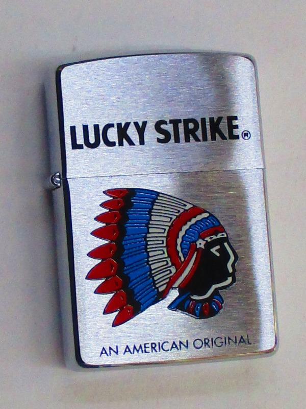 ラッキーストライク インディアン酋長デザイン (TB-35) フラットボトム STRIKE ブラッシュZippo ブラッシュZippo 1995年7月製 未使用 (TB-35) LUCKY STRIKE, クシロシ:8703fab7 --- officewill.xsrv.jp