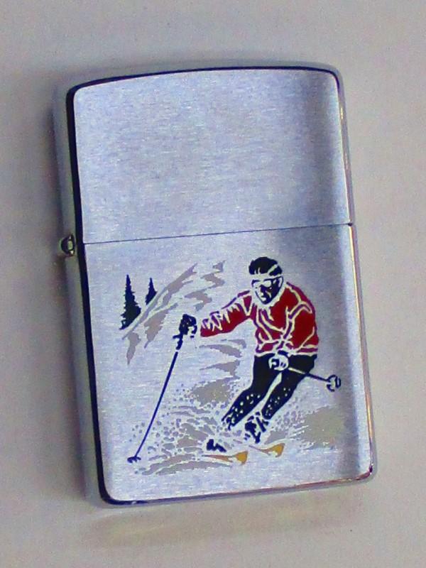 ビンテージZippo (M0201) スキーヤー スキー スキーヤー スキー スポーツシリーズ 1980年製 未使用 (M0201), 見沼区:866e2238 --- officewill.xsrv.jp