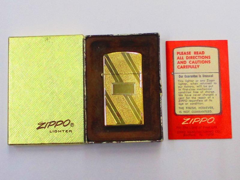 ビンテージZippo ゴールドエレガンス 未使用箱付き 機械彫刻入り スリム ポリッシュ仕上げ スリム ビンテージZippo 1977年製 未使用箱付き (M-775), ブリティッシュライフ:81ebfb31 --- officewill.xsrv.jp