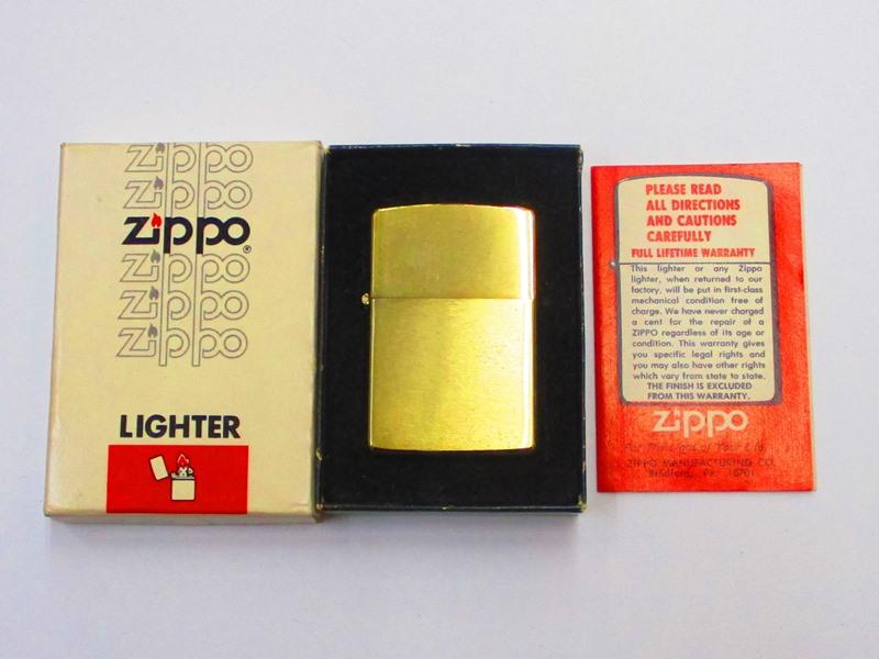 100%の保証 ビンテージZippo 金メッキ 金メッキ ブラッシュ仕上げ 箱付き 無地 無地 1979年製未使用 箱付き (M-792), ケンコーコム:0f69ef1f --- ullstroms.se