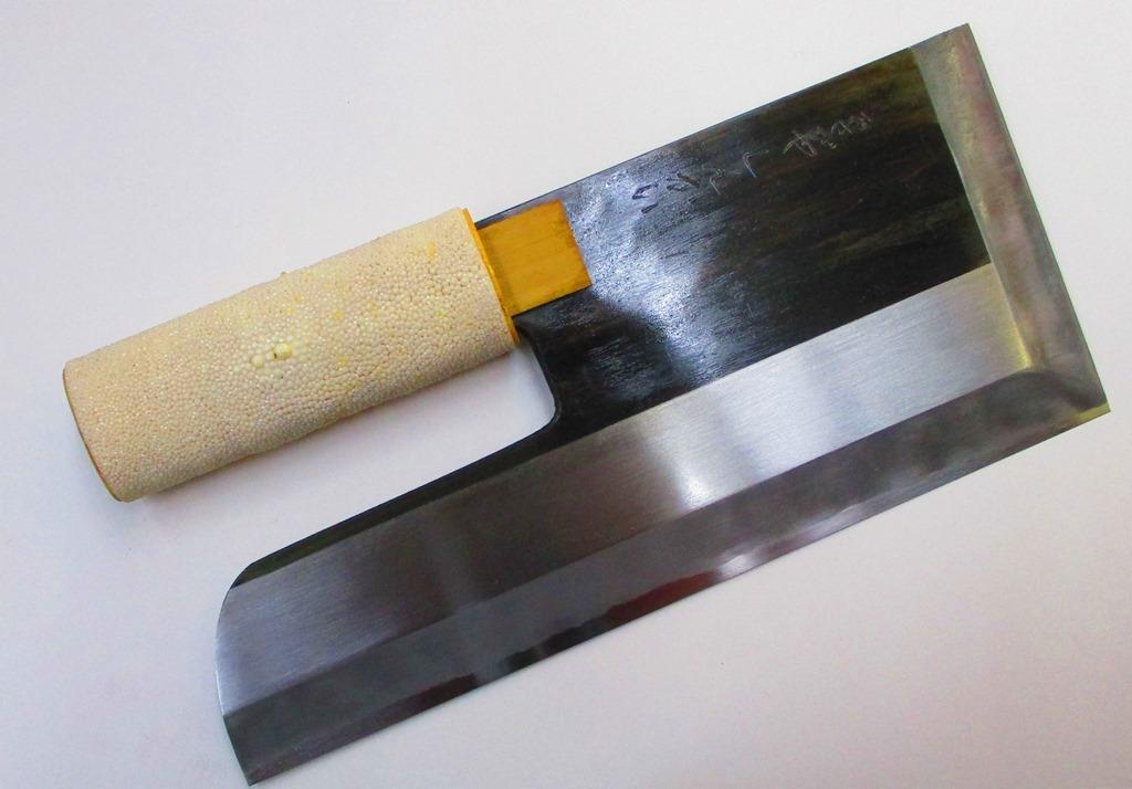 蕎麦切り包丁 あさがや しんかい そば切り包丁 300mm 白紙2号 約950グラム 片刃割り込み作り 蕎麦包丁 そば包丁