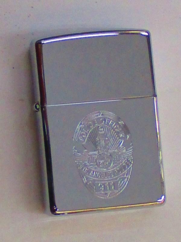 ロサンゼルス市警察 Los Angeles Police ポリッシュZippo 1998年12月製未使用 (Z-288)