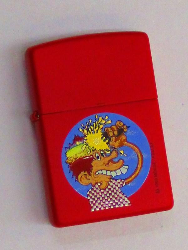 スタンリー・マウス アイスクリームキッド レッドマットZippo 1998年2月製未使用 (Z-285) Stanley Mouse