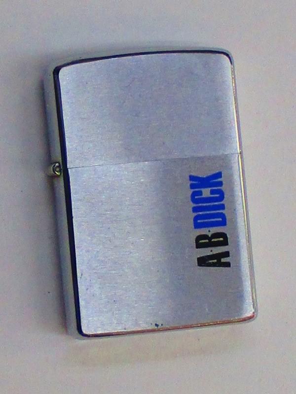 ビンテージZippo ABDICK (企業ロゴマーク) 難あり 1974年製 未使用 (M0238)