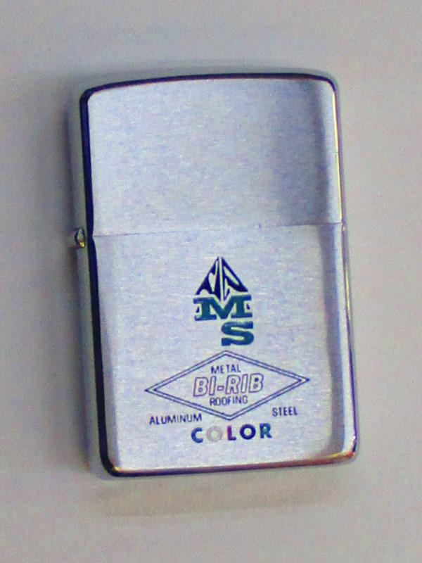 ビンテージZippo バイリブ (金属製屋根材) 1968年製 未使用 (M0295)