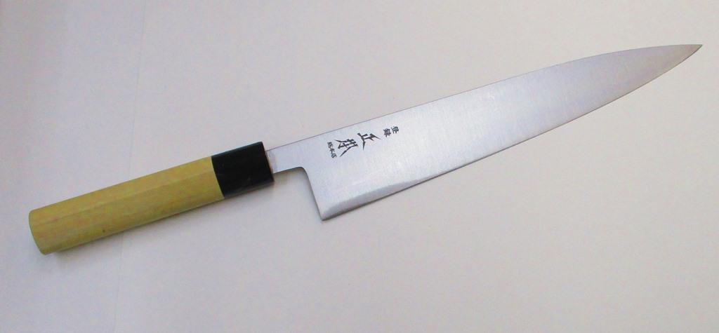 正本総本店 和牛刀 玉白鋼 24センチ 木鞘付き 正本 KS3124 (MSG-2) Masamoto Sohonten Wa-gyuto Knife 24cm Shirogami #2 Carbon steel with Wooden Saya