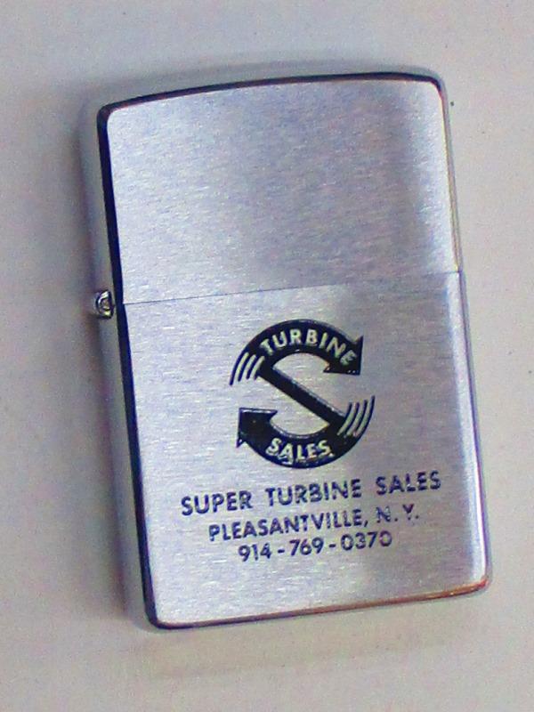 ビンテージZippo タービン販売企業 1976年製 未使用 (M0300)