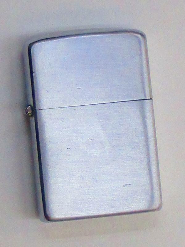 ビンテージZippo 無地 ブラッシュ仕上げ スチール製 1952-53年製 未使用 (MJ-521)