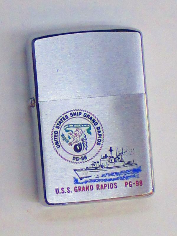ビンテージZippo アメリカ海軍 哨戒艇 グランドレイピッズ 1975年製 未使用 (G-114)