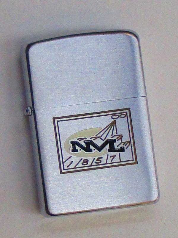 ビンテージZippo NML社 (企業ロゴマーク) 1957年製 未使用 (M0288)