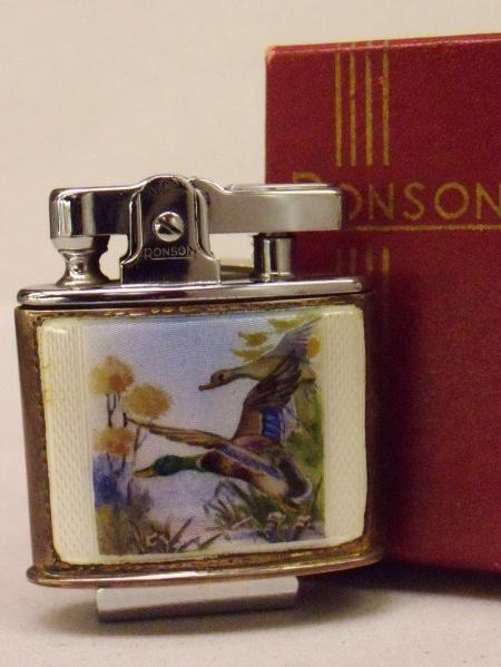 RONSON 純銀製 RONSON ロンソンライタースタンダード エナメル鳥柄 未使用箱付 純銀製 未使用箱付, ケースファクトリー:74fe6a04 --- sunward.msk.ru
