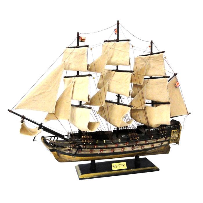 【メーカー直送のため代引き不可】 【送料無料】 木製帆船模型 HMSヴィクトリー号 70センチ 完成品 【この商品はラッピング非対応です】