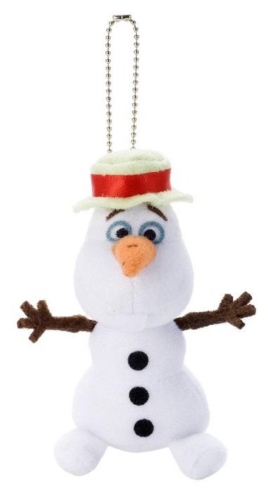 ネコポスの発送で送料無料!! 【代引きは対象外です】 【数量限定価格!!】【ネコポス送料無料】 ディズニー アナと雪の女王 オラフ 帽子 ぬいぐるみボールチェーン 【Disneyzone】