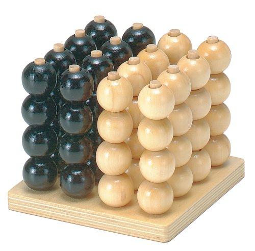 木製 立体4目並べ 立体パズル 知育玩具 信用 ※アウトレット品