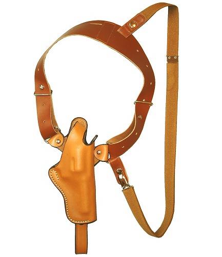 ホリゾンタル シルエットショルダーホルスター (牛革製・ブラウン)S231-Br
