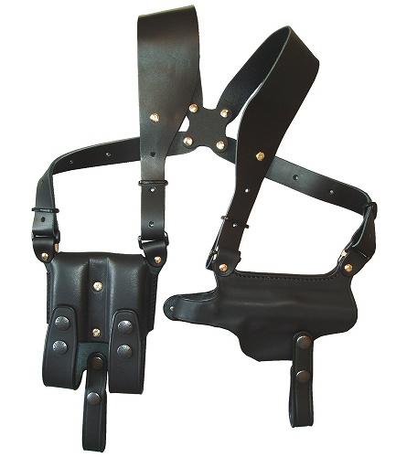ホリゾンタル シルエットショルダーホルスター (牛革製・ブラック)M92F用 281-BK