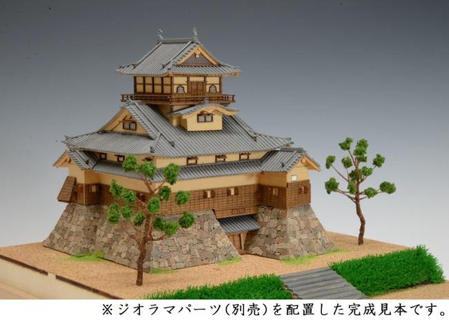 【送料無料】 木製建築模型 1/150 犬山城 レーザーカット加工
