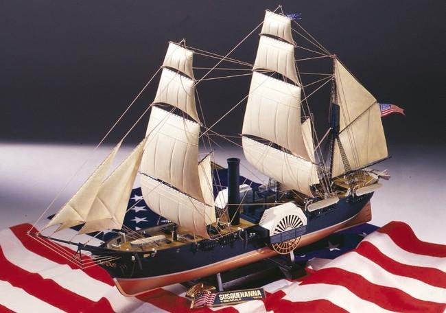 プラモデル 1/150 大型帆船 No.10 黒船 サスケハナ号