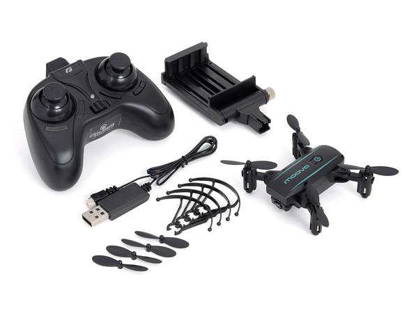 ドローン HDカメラ内蔵 ポケットサイズ折りたたみ式 MOOVA(ムーバ) Black 黒 GB450