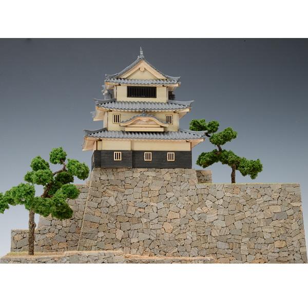 【送料無料】 ウッディジョー 木製建築模型 1/150 丸亀城 レーザーカット加工