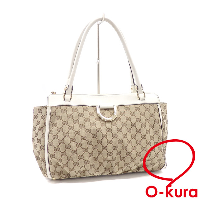 e529426e33d1 Gucci shoulder bag Lady's beige white GG canvas leather 189831 GUCCI Thoth  shawl deep-discount exemption from taxation A169985