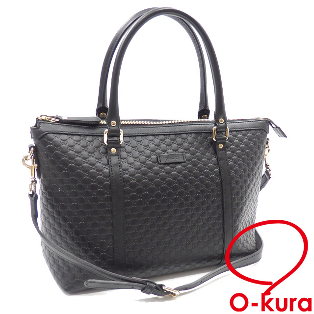 982ee5a108f Take Gucci handbag micro Gucci sima Lady s black black leather 449656 GUCCI  outlet article GG type push 2WAY shoulder slant  deep-discount exemption  from ...