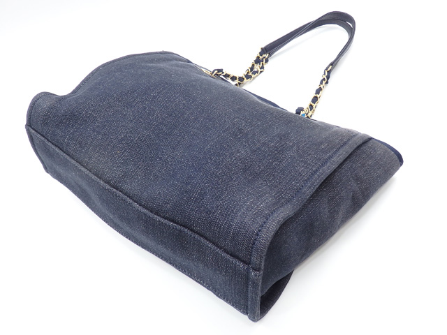 1216d8d8a22c Chanel chain tote bag Deauville Lady's indigo denim A67001 CHANEL shawl  here mark deep-discount exemption from taxation A171150