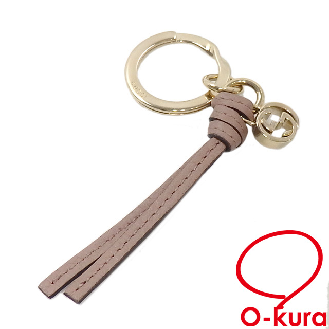525e7a6e4e7 Gucci key ring Lady s pink system leather metal 324403 GUCCI leather key  ring bag charm deep-discount exemption from taxation A6022813