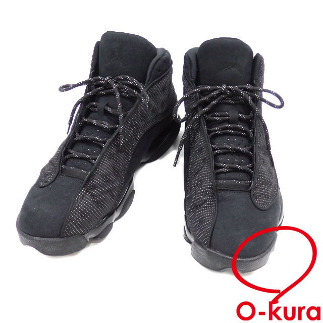 new arrive 4ec49 a04cd Nike sneakers Air Jordan 13 nostalgic men low-frequency cut suede other  black black 28cm ...