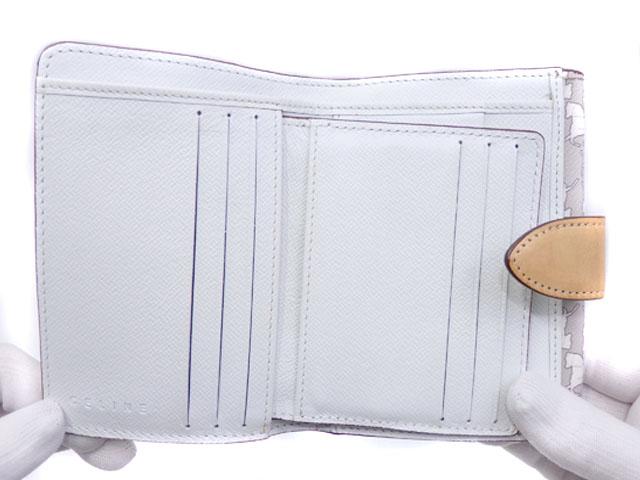 セリーヌ 二つ折り 財布 レディース チョーク PVC 107497CCN 2つ折り 馬車柄pSzMqUV